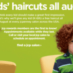 Complimentary Haircuts for Kids for Back to School