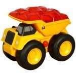#Toy Review – Getting Work Done w/ @ToyState Caterpillar Preschool Lightning Load Dump Truck