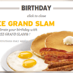 Free Grand Slam at Denny's