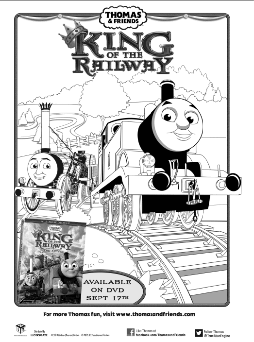 free thomas the train king of the railway printable coloring sheet two kids and a coupon - Thomas Friends Coloring Pages