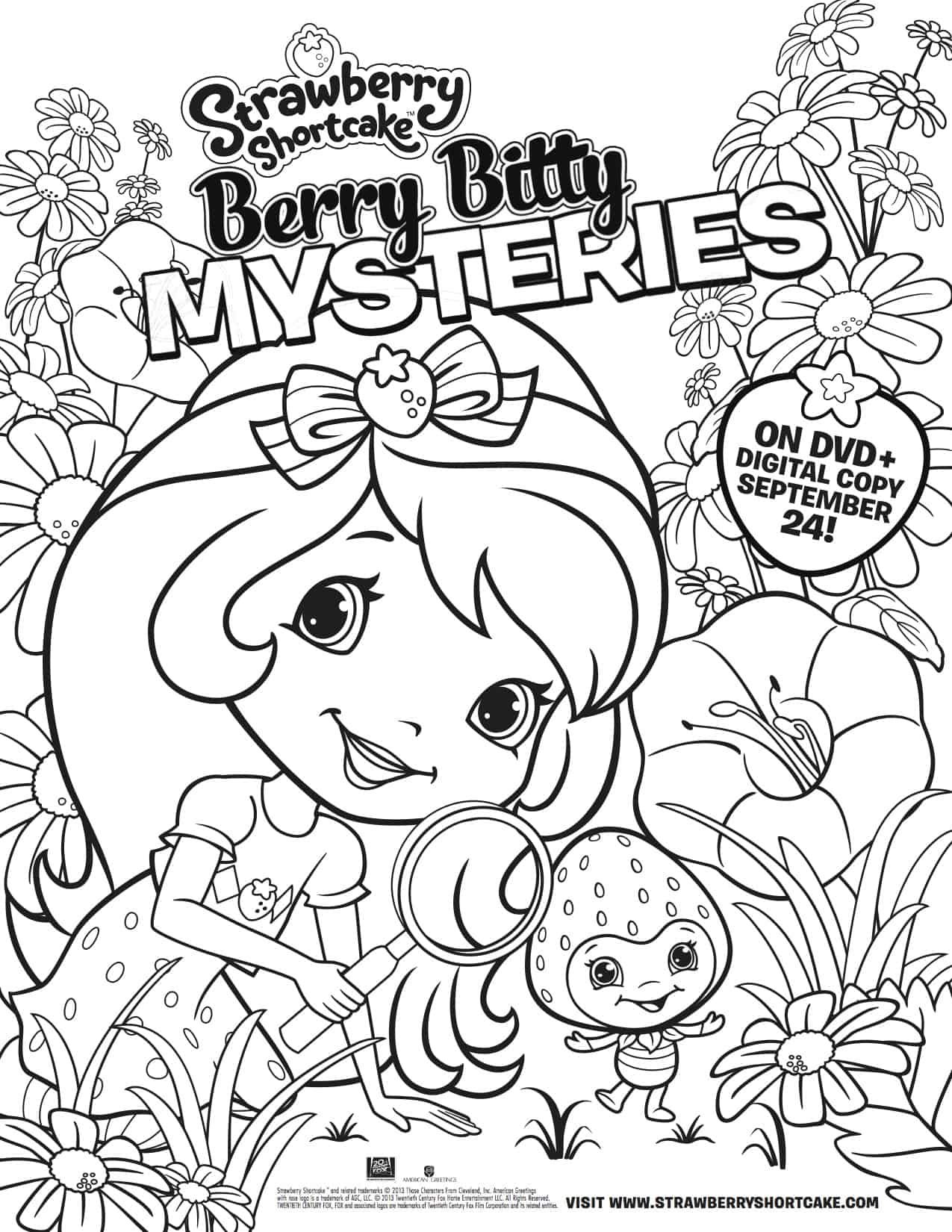 Strawberry Shortcake And Friends Coloring Pages - GetColoringPages.com | 1650x1275