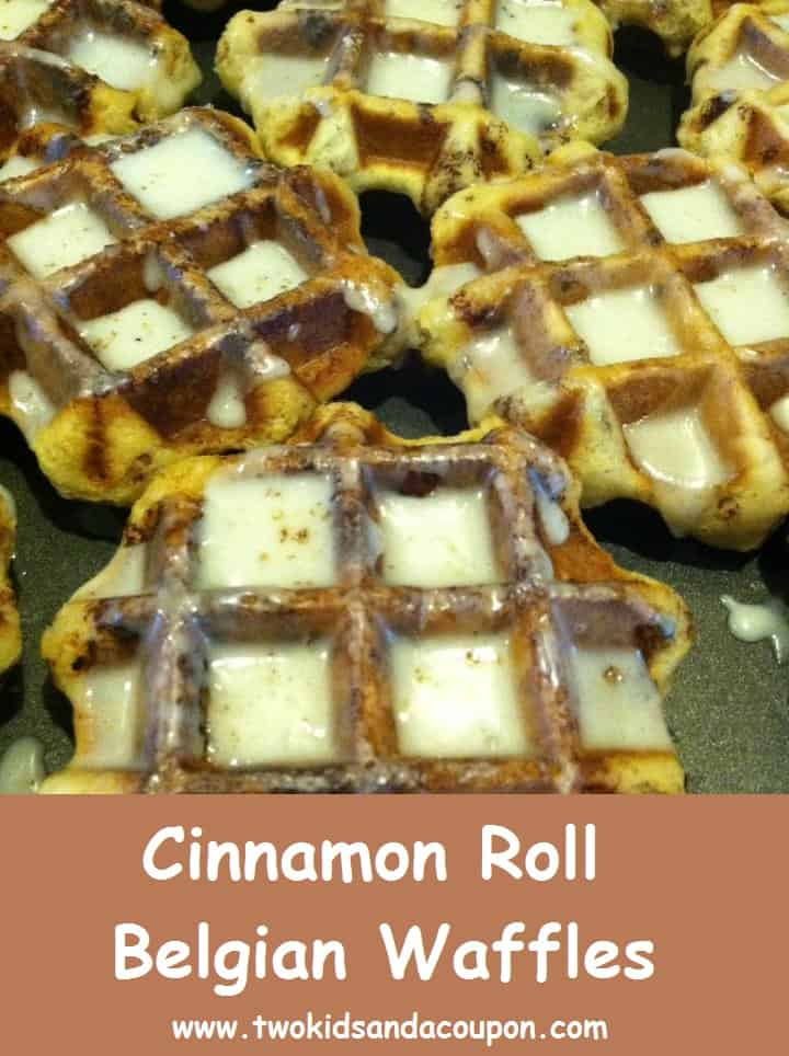 Cooking With Kids – Cinnamon Roll Belgian Waffles