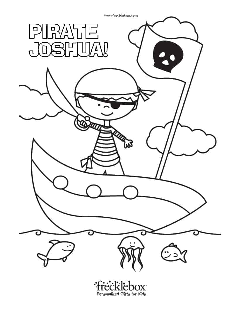Free Personalized Coloring Pages With Your Child\'s Name
