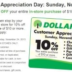 Customer Appreciation Day at Dollar Tree save 10