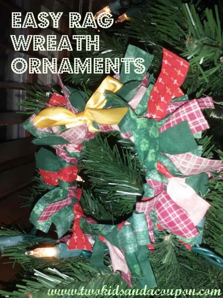 Rag Wreath Ornaments