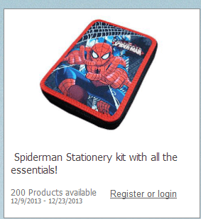 Spiderman Product Testing