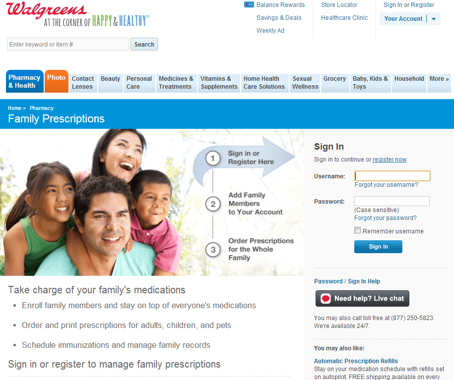 Walgreens Family Prescription Management  #shop