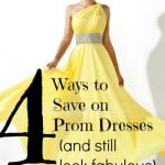 how to save on prom dresses