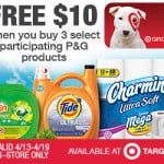 Free $10 Target Gift Card When You Buy 3 Participating P&G Products