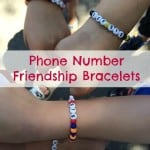Phone Number Friendship Bracelets