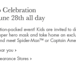 Superhero Events at Pottery Barn Kids Stores