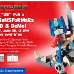 Transformers lego evnet