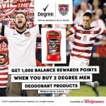 Earn 1000 Balance reward Points w/ Purchase of 2 Degree Men Deodorant Products