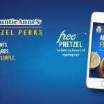 Free Pretzel from Auntie Annes