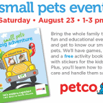 Free Petco Small Pets Event w/ Free Activity Book on Saturday Aug. 23rd