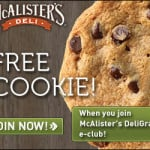 Free Cookie from McAllisters Deli