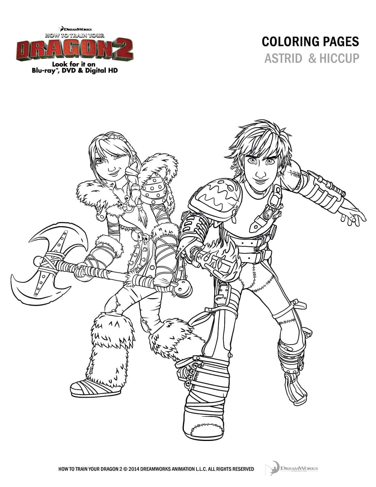 How To Train Your Dragon Coloring Pages Toothless How to train your dragon 2