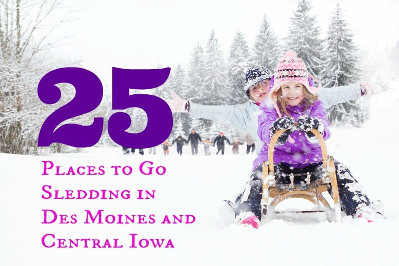 Places to go sledding in Des Moines