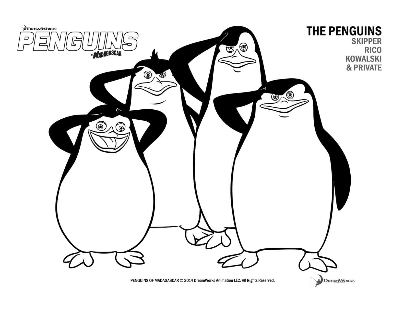 Free Penguins Of Madagascar Printable Coloring Pages And Activity