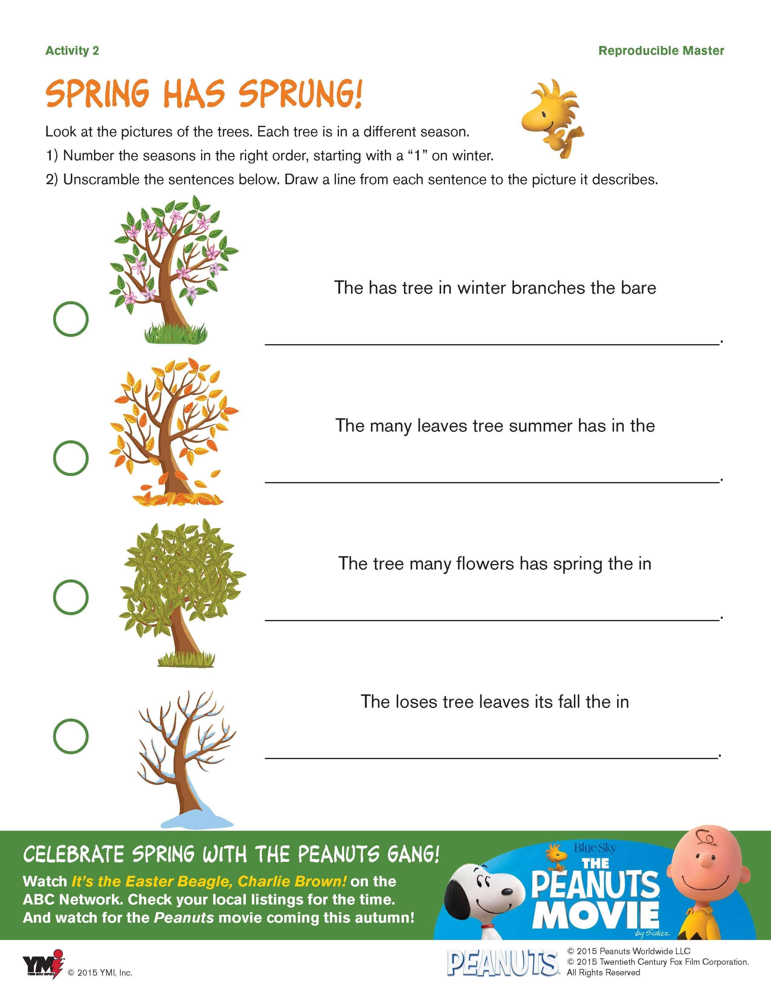 worksheet Seasons Worksheet charlie brown easter seasons worksheet two kids and a coupon