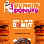 Free Donut at Dunkin Donuts on June 5th