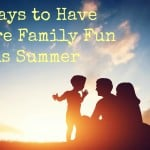Activities to do as a family