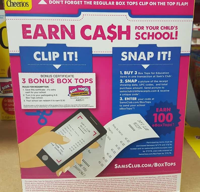 Earn Cash For Your Child's School Box Tops for Education