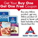 Buy One Atkins Product Get One Free Coupon