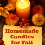 Homemade Candles for Fall