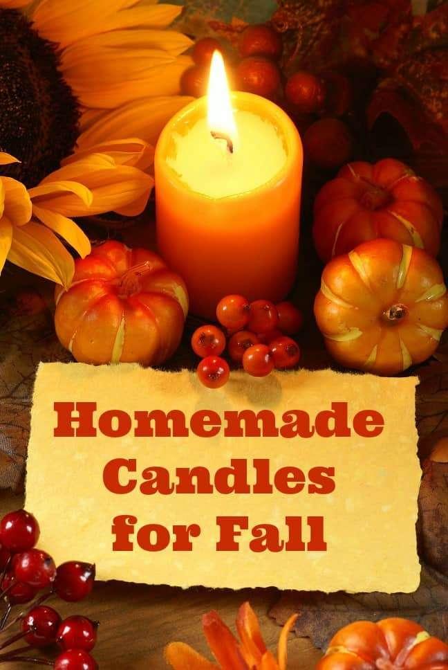 Homemade Fall Candles