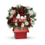 Snoopy's Cookie Jar Flower Arrangement by #Teleflora PLUS Win One Too!  #SendCheer #Snoopy #ad