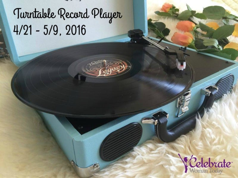 Turntable-record-player-coral-rose-Giveaway