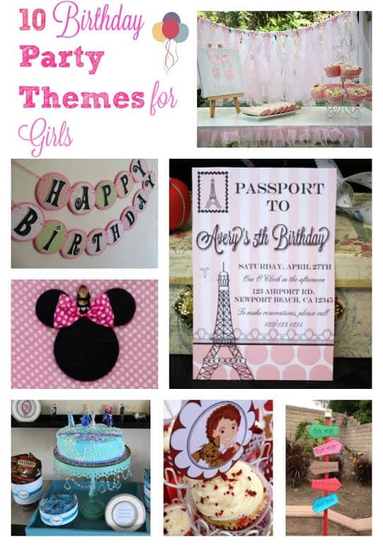 Birthday Party Theme Ideas for Girls