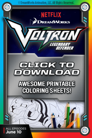 Voltron Coloring Sheets