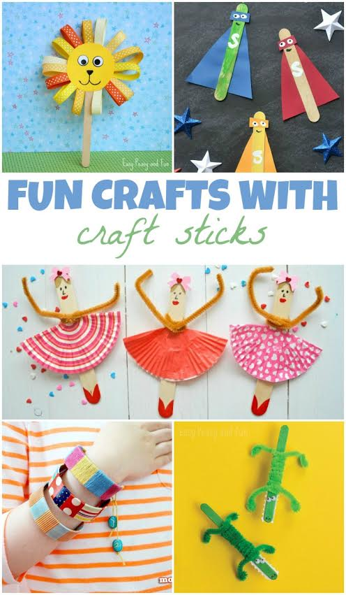 Kids Craft Idea with Popsicle Sticks