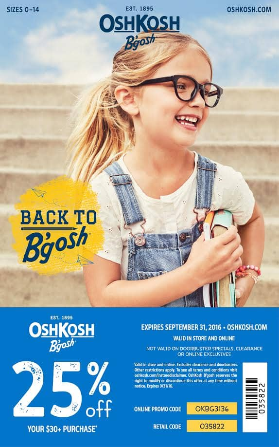 OshKosh B'Gosh Coupon August 2016