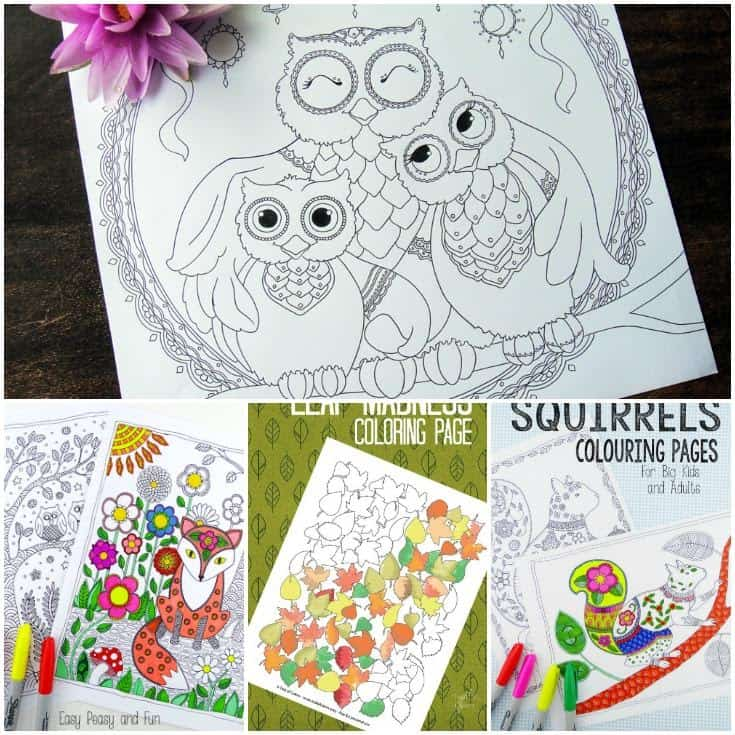 Fall Coloring Pages for Kids Facebook