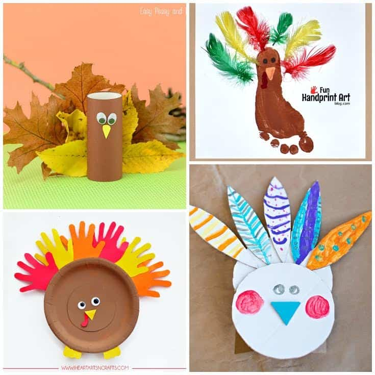 Looking for some fun turkey crafts ideas to help your kids celebrate Thanksgiving? Here are some great projects you won't want to miss!
