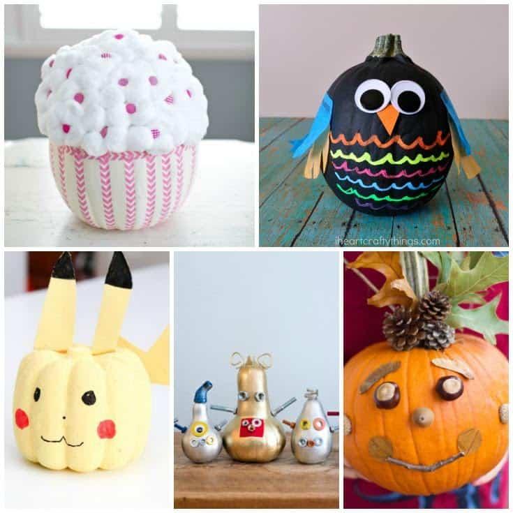 Cute No Carve Pumpkins Ideas