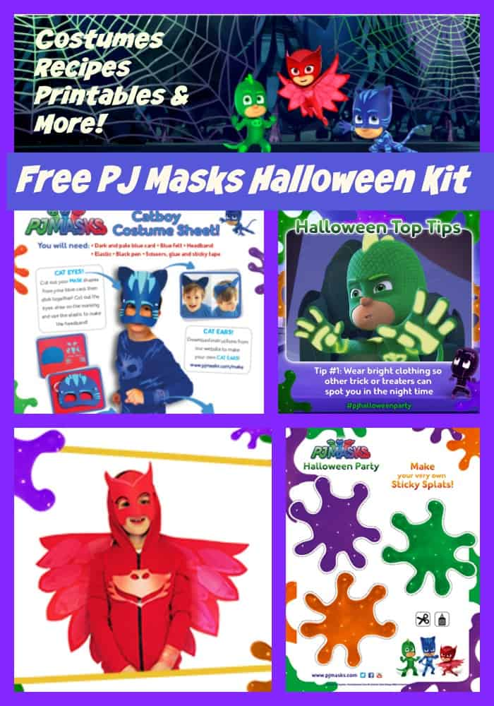picture relating to Pj Masks Printable Images identified as Free of charge Printable PJ Masks Halloween Package