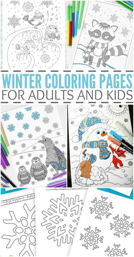 Winter Coloring Pages For Kids And Adults