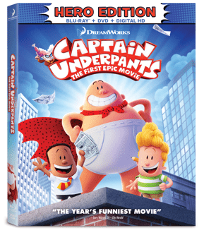 Captain Underpants The First Epic Movie Available On Blu Ray And Dvd