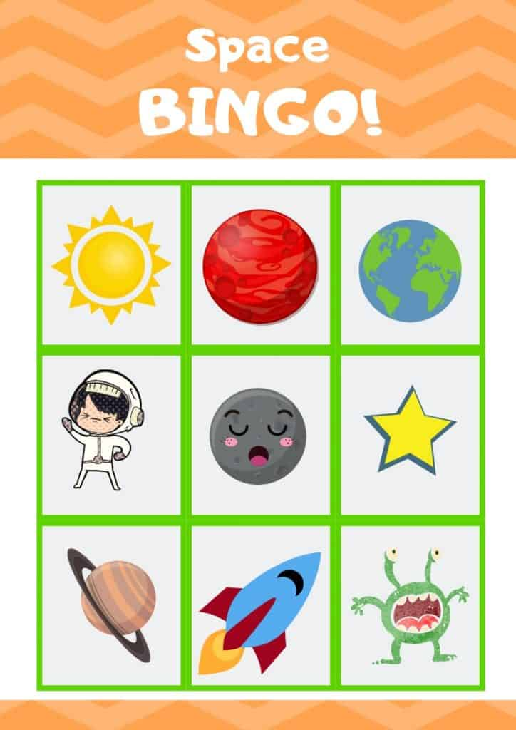 image relating to Space Printable known as Totally free Printable Outer Area Bingo Match