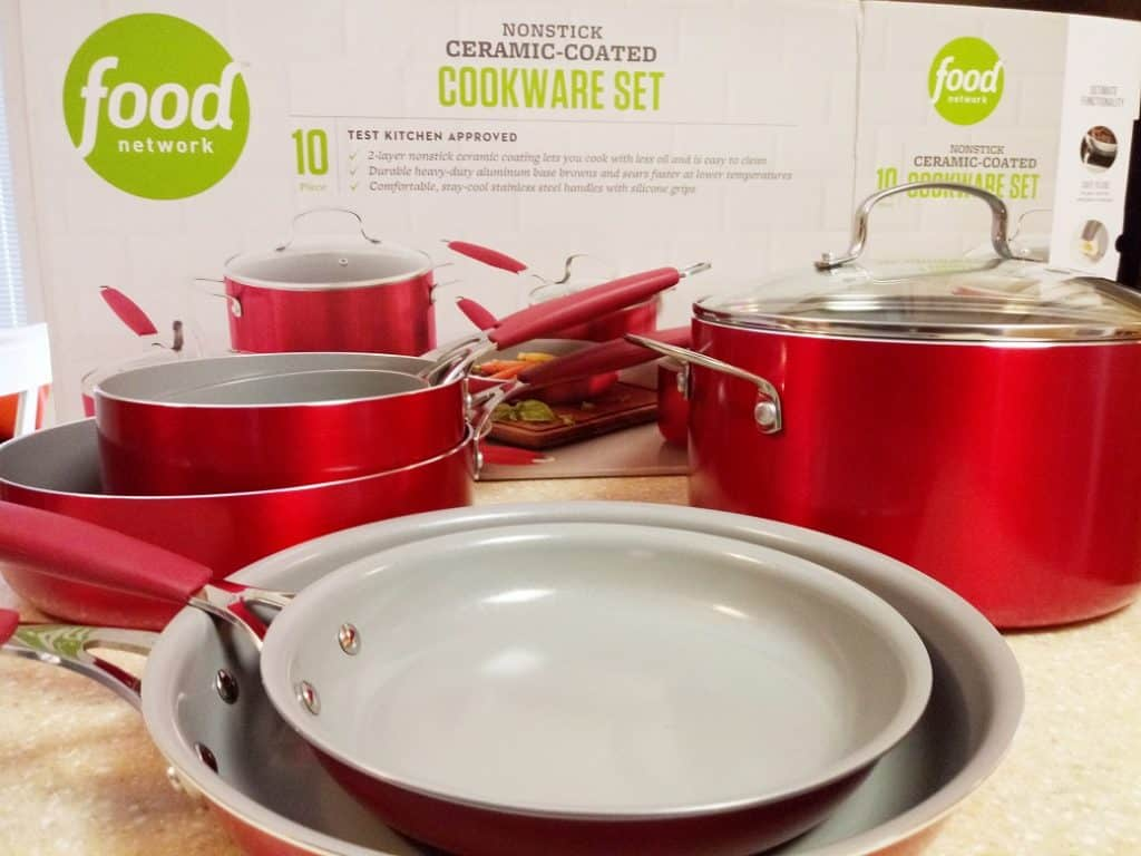 Cook Up Your Holiday Favorites With The Food Network 10 Pc Ceramic Cookware Set