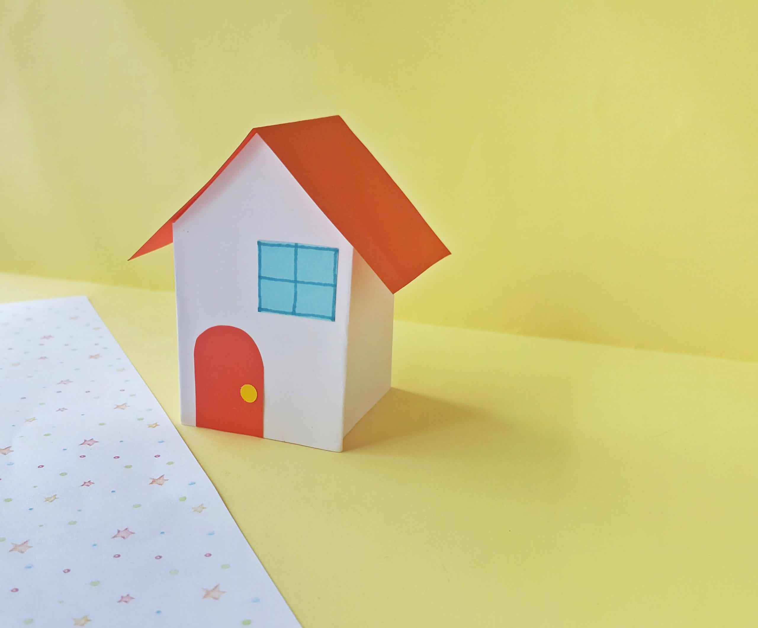 Cute Paper House Craft Project for Kids