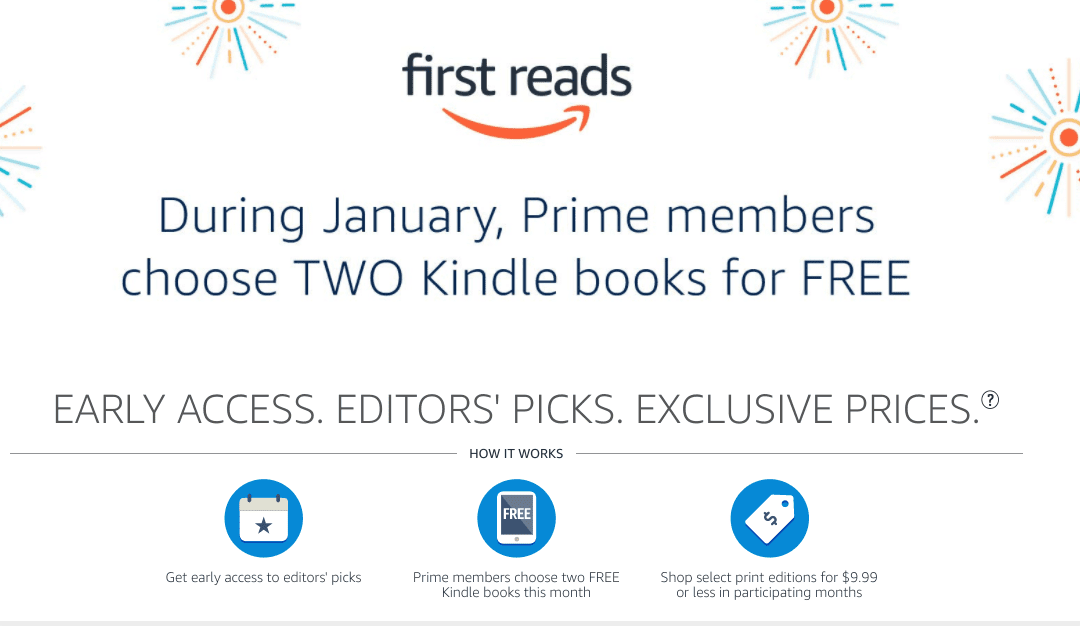 Get 2 Free Kindle Books From Amazon Prime For January 2021