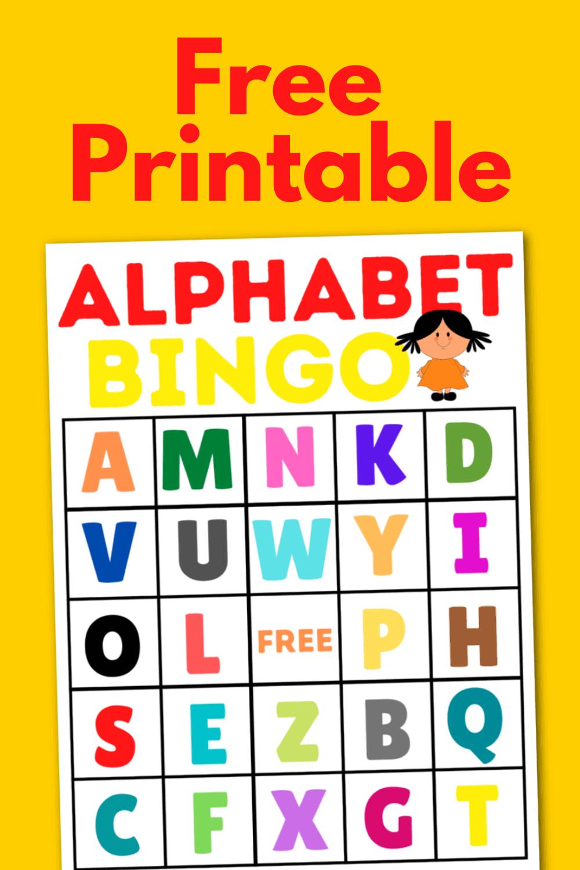 Free Alphabet Bingo Printable Game For Kids