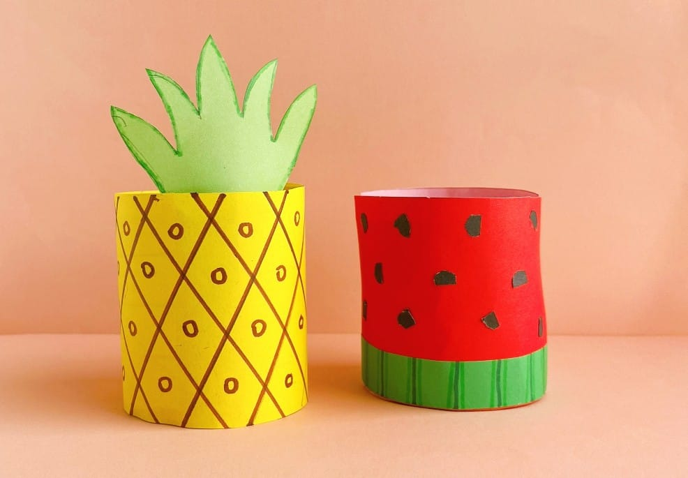 Toilet Paper Roll Pineapple from Two Kids And A Coupon